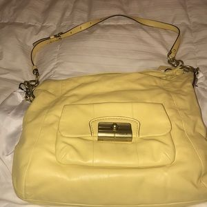 Coach Yellow Leather Bag